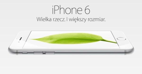 Apple zaktualizowało polskie strony o iPhone'ie 6