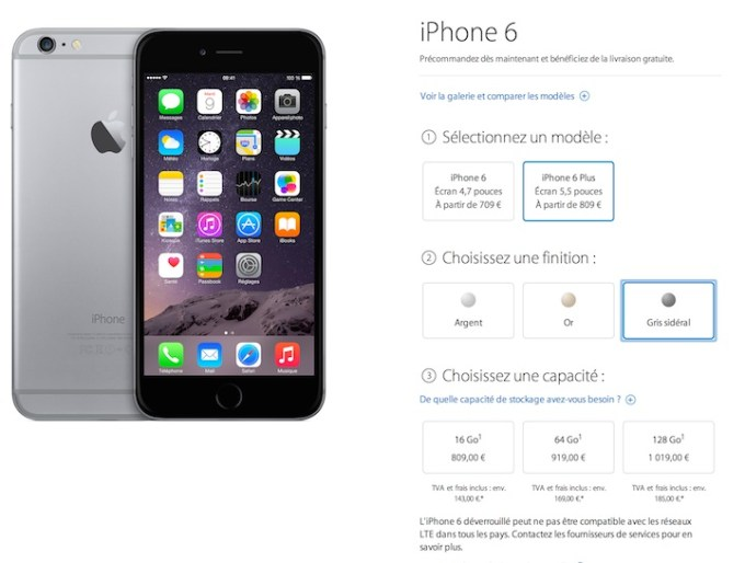 Cena iPhone'a 6 Plus we Francji