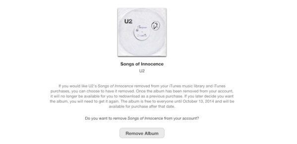 Jak usunąć darmowy album U2 z iTunesa?