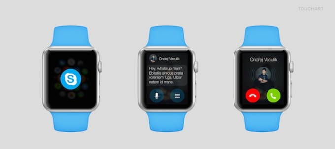 Skype na Apple Watcha