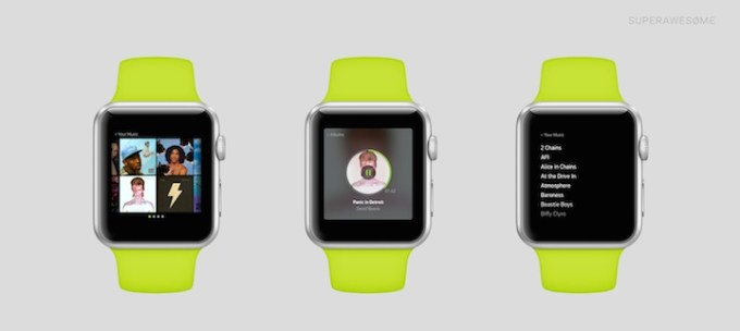 Spotify na Apple Watch