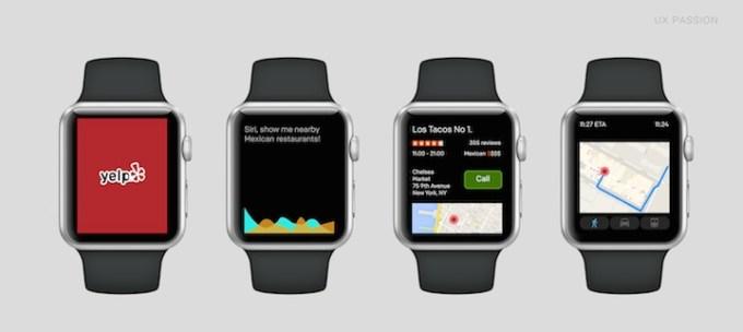 Yelp na Apple Watch