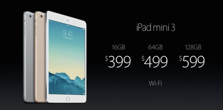Cena iPada mini 3