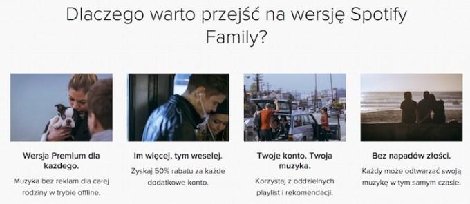 Spotify Family - korzyści
