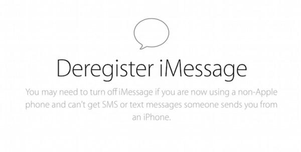 Jak wyrejestrować numer telefonu z iMessage?