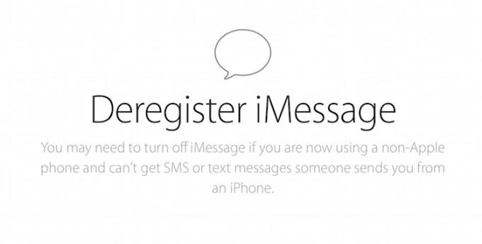 Deaktywacja iMessage dla numeru telefonu