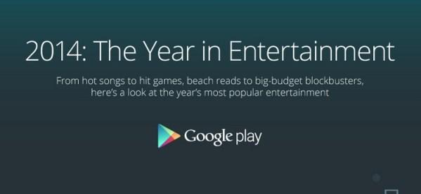 2014: Year in Entertainment – infografika od Google'a