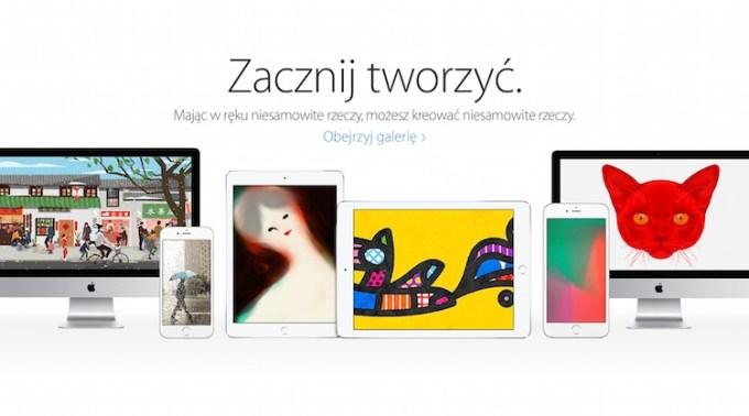 """Kampania """"Zacznij tworzyć"""" Apple."""