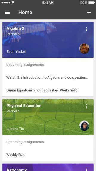 Google Classroom - aplikacja mobilna