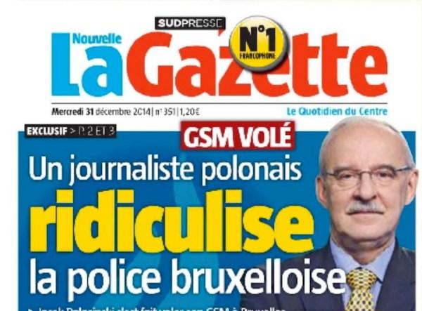 Dziennikarz TVN24, smartfon i brukselska policja