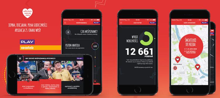 23. WOŚP - aplikacja mobilna Wielkiej Orkiestry Świątecznej Pomocy
