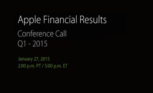 Wyniki finansowe Apple'a już 27 stycznia