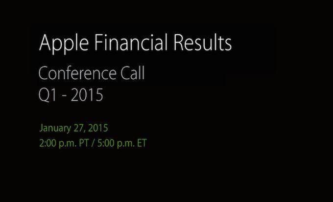 Wyniki finansowe Apple Q1 2015