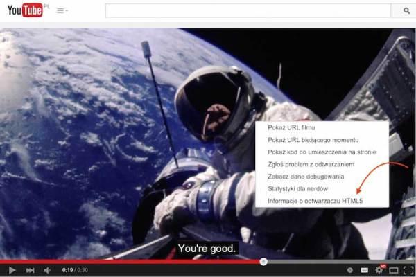 Domyślny odtwarzacz YouTube'a wreszcie w HTML5