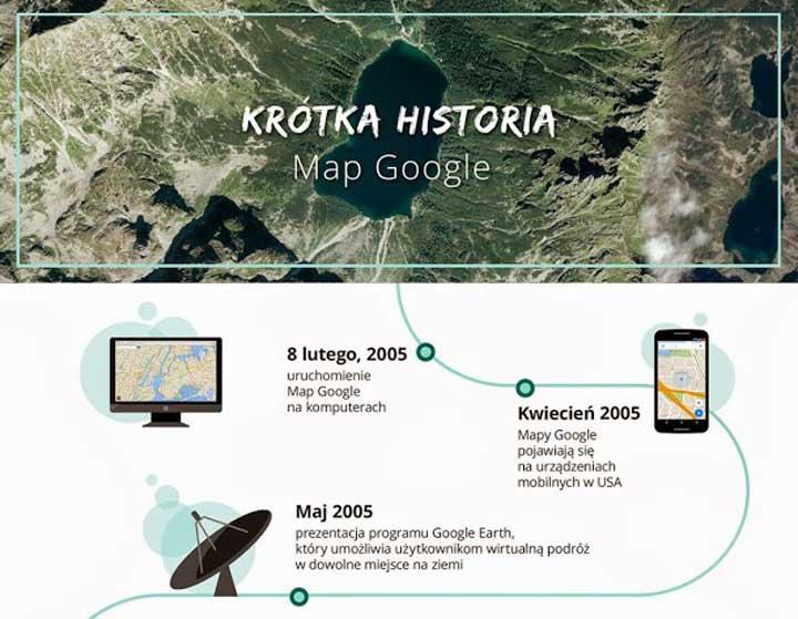 Krótka historia Map Google