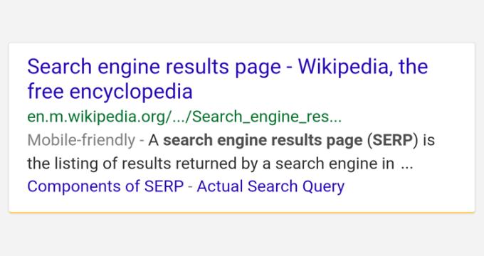 Nowy układ i kolorowe paski w wynikach wyszukiwania na mobile'a