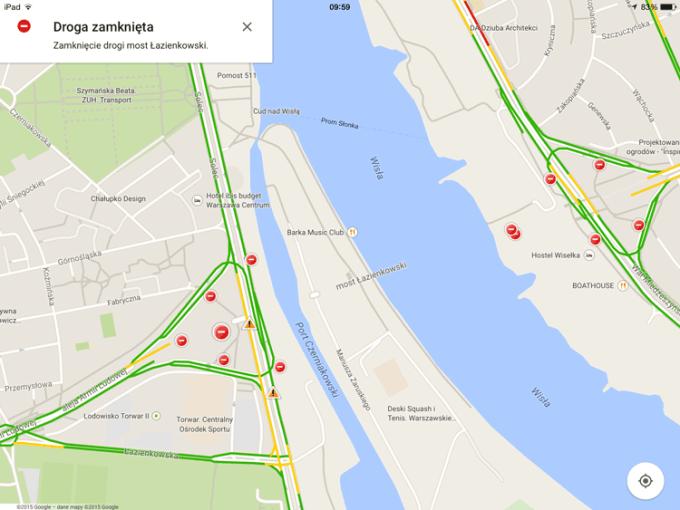 Most Łazienkowski - Mapy Google