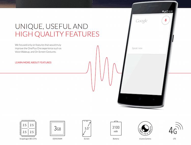 OnePlus One spec