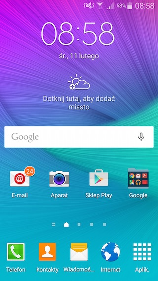 Android 5 Lollipop na Samsung Galaxy Note 4