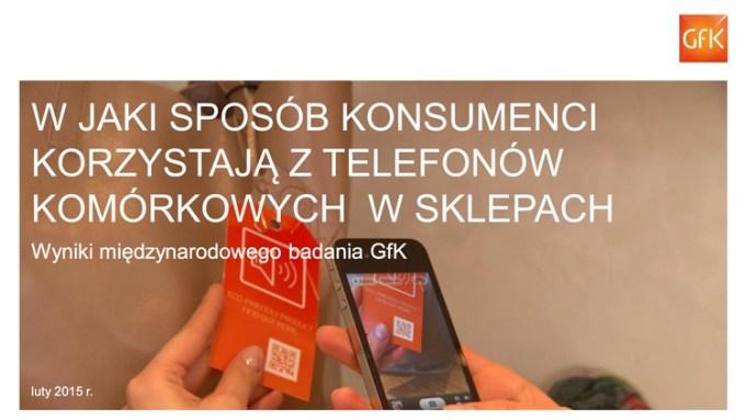 W jaki sposób konsumenci korzystają ze smartfonów w sklepach