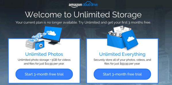 Amazon Cloud Drive już nie darmowy