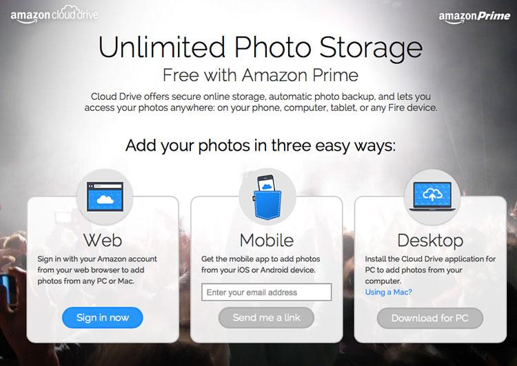 Amazon Prime - photos unlimited
