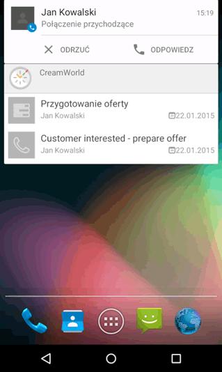 aplikacja CREAM assistant