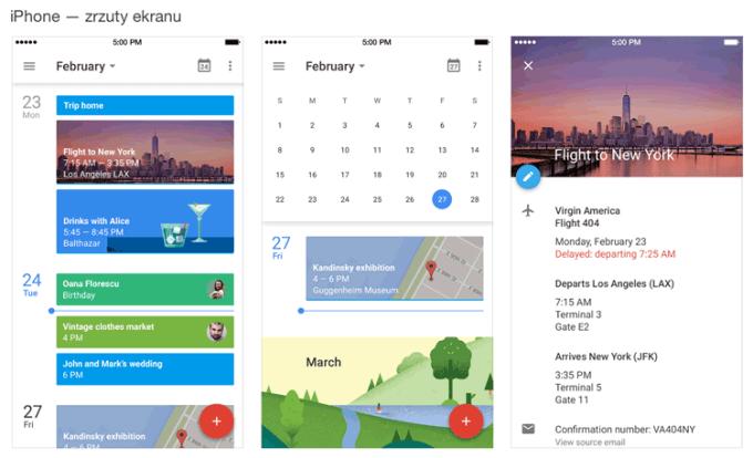 Kalendarz Google na iPhone'a