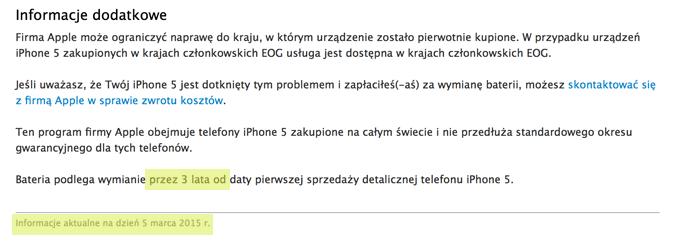 program wymiany baterii Apple