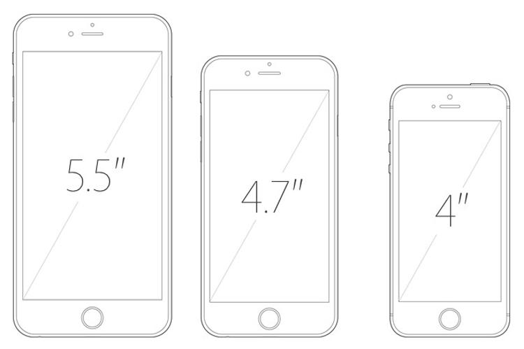 Rozmiary iPhone'a 6s, 6s Plus i 4-calowego 6c