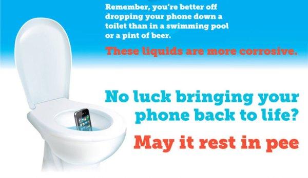Co zrobić, gdy telefon wpadnie do toalety?