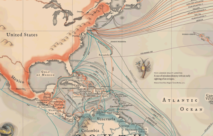Podwodne kable internetowe  - Karaiby