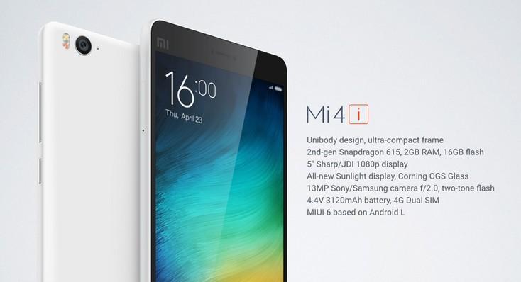 Xiaomi Mi 4i - specyfikacja techniczna