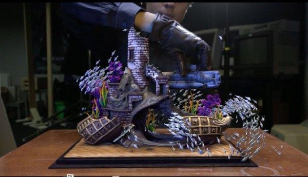 Akwarium z rybkami w wirtualnej rzeczywistości