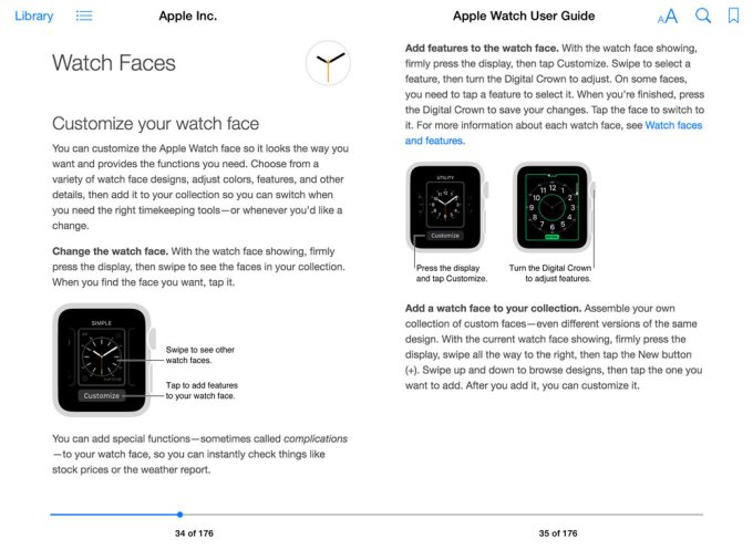 Apple Watch - User Guide wersja z iBook Store'a (Watch Faces)