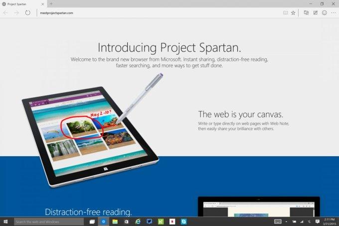 Microsoft - Project Spartan