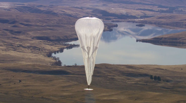 Project Loon balloons float (Internet for all)