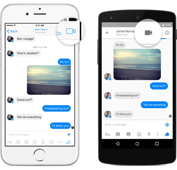 Wideorozmowy przez Facebook Messenger - aplikacja
