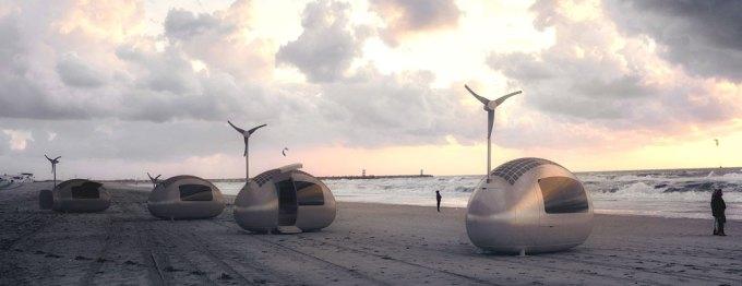 Ecocapsule nad morzem