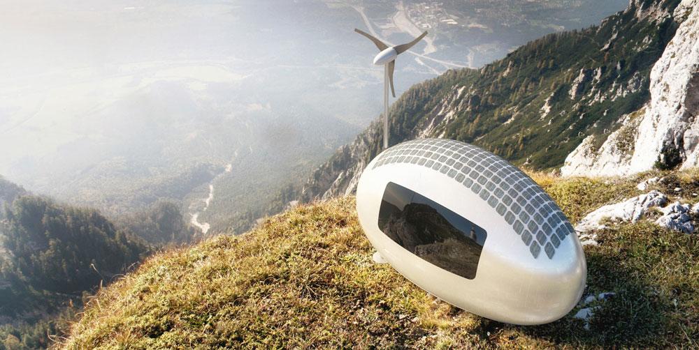 Ecocapsule w górach