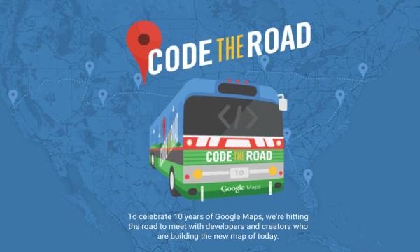 Akcja Code the Road z okazji 10. urodzin Google Maps