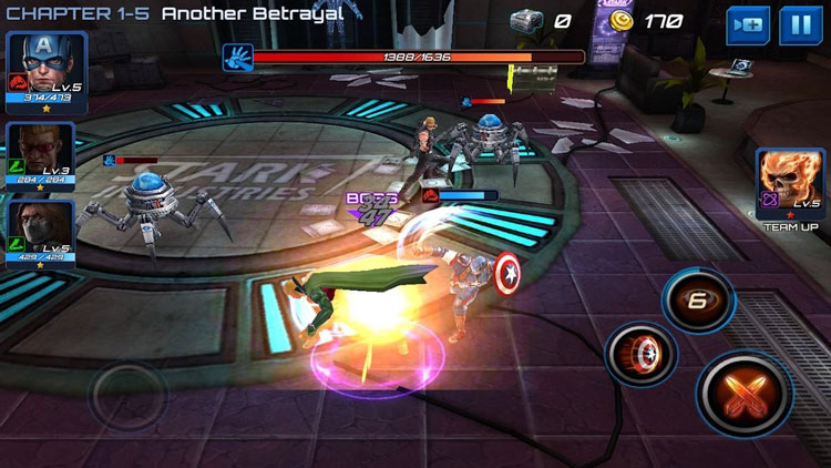 Marvel Future Fight - screen z gry