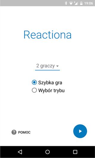 Gra mobilna Reactiona (screen)