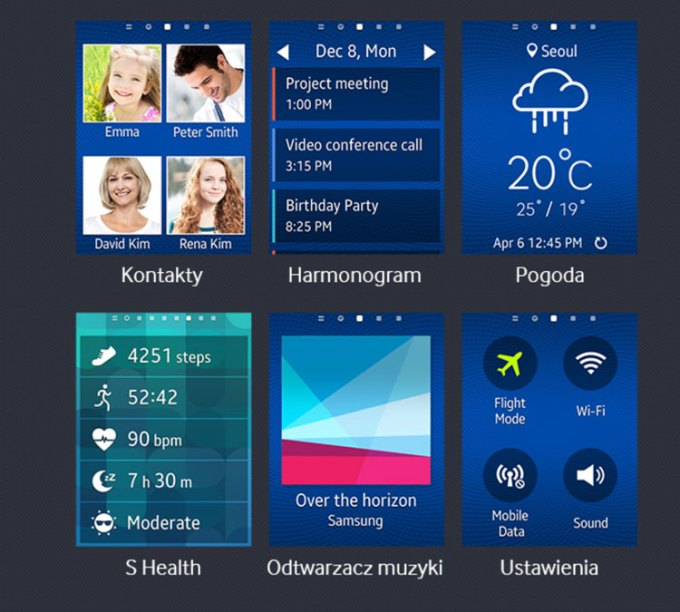 Samsung Gear S - funkcje