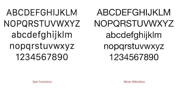 Czcionka San Francisco w iOS 9 i Helvetica Neue w iOS 8