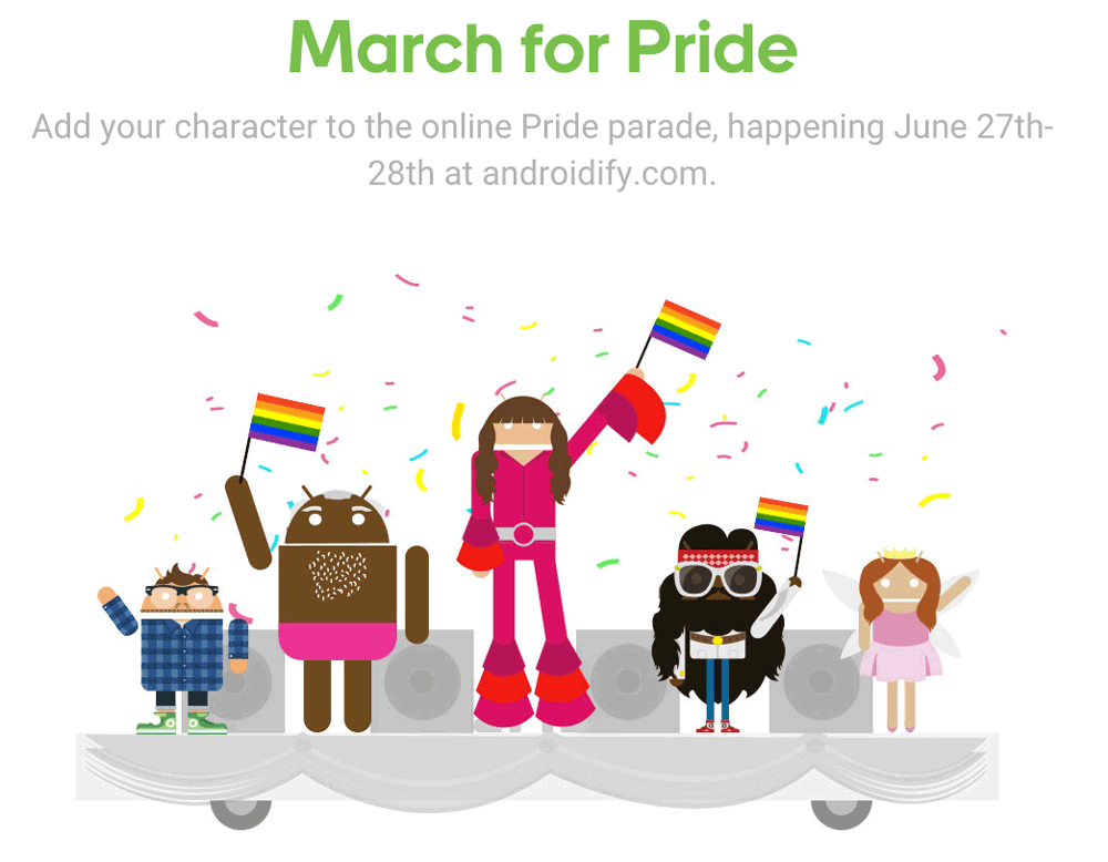 March for Pride - marsz równości Androidify