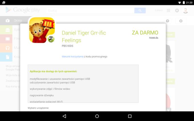 Darmowa appka tygodnia Daniel Tiger Grr-ific Feelings od PBS KIDS