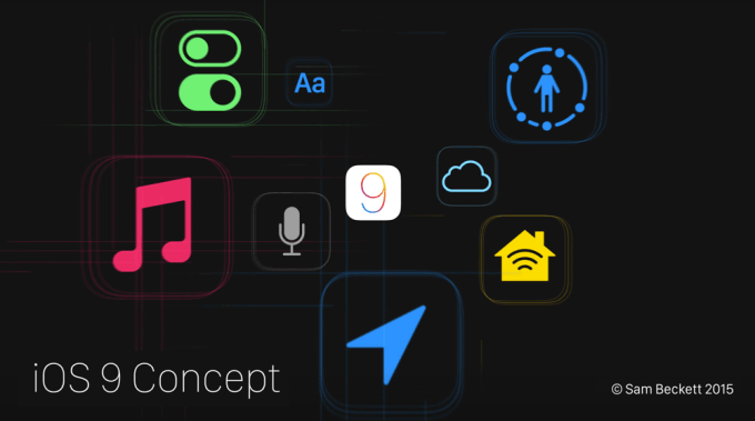 iOS 9 concept by Sam Beckett