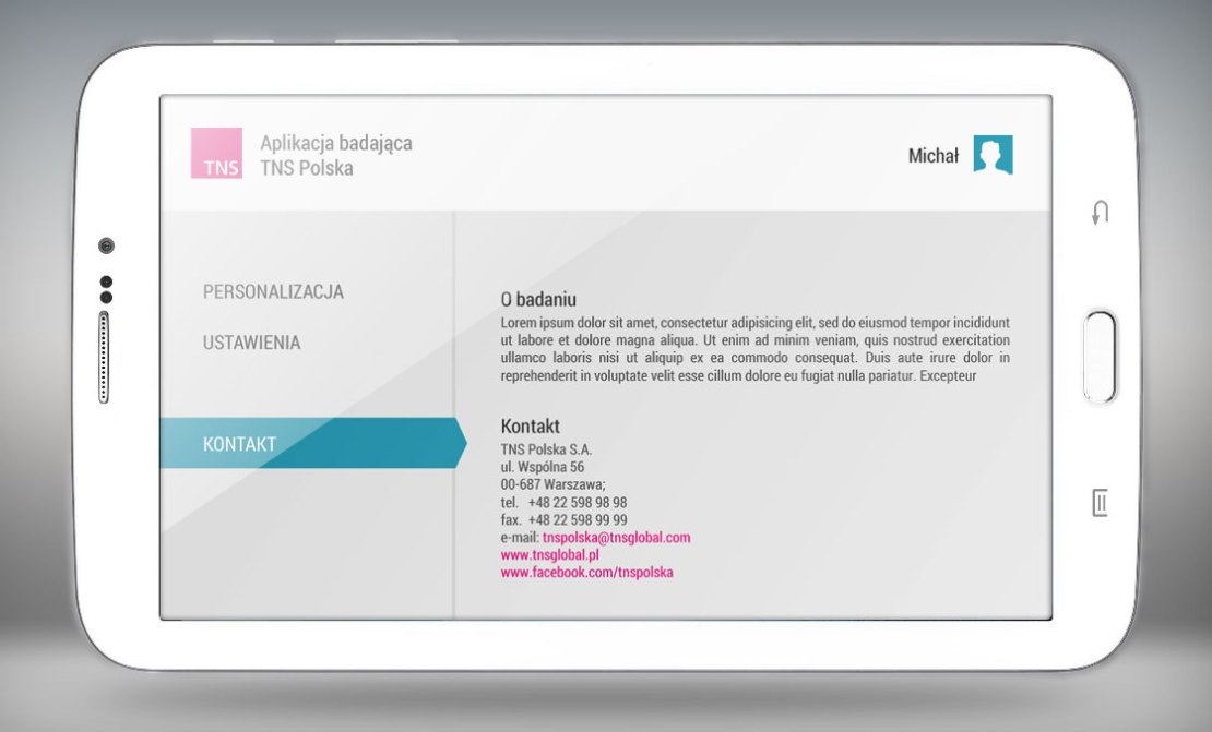 Screen z aplikacji mobilnej mobiSTAT