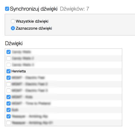 Synchronizacja dzwonków (dźwięków) z iPhone'em.